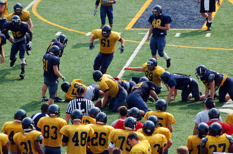4th Football Spring Scrimmage Photo