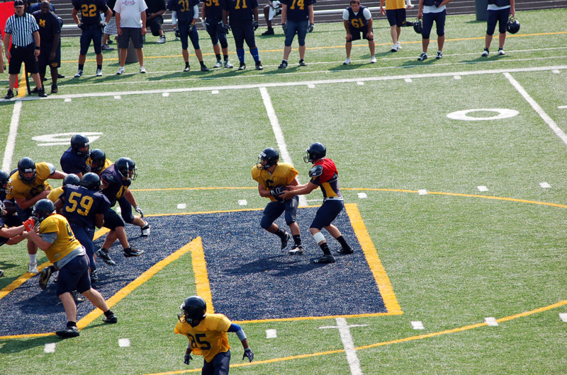 7th Football Spring Scrimmage Photo