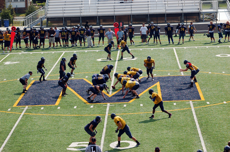 8th Football Spring Scrimmage Photo