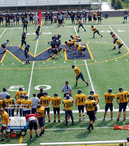 9th Football Spring Scrimmage Photo