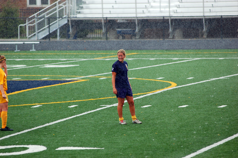 Jessica Willoughby in the downpour