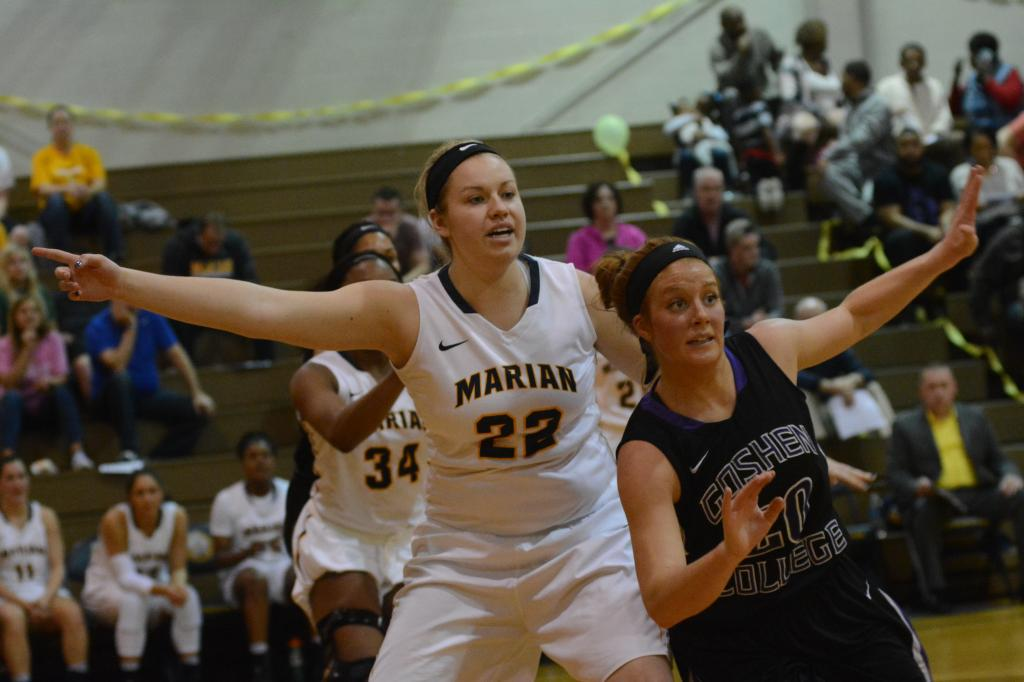 25th WBB vs. Goshen Photo