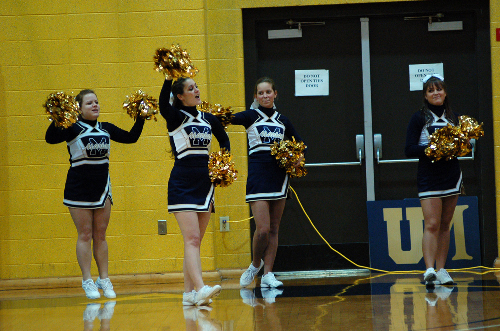 Marian University cheerleaders