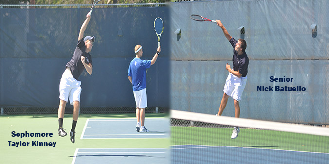 Senior Nick Batuello and Sophomore Taylor Kinney won at No. 3 doubles, 8-4.