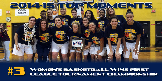 2014-15 TOP MOMENTS #3 - Women's Basketball Wins First League Tourney Title