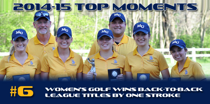 2014-15 TOP MOMENTS #6 - Women's Golf Goes Back-to-Back By One Stroke