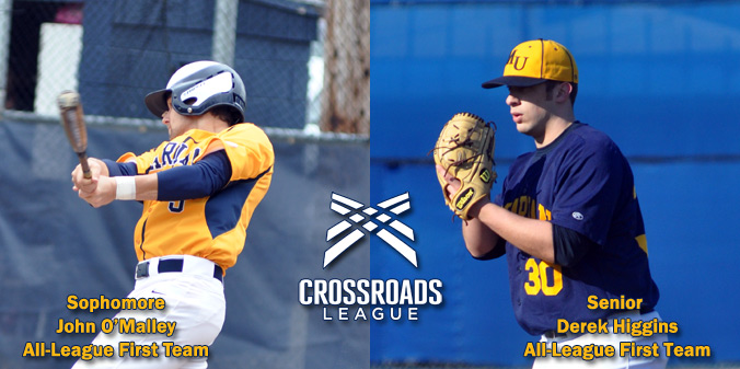 Higgins and O'Malley Named All-Crossroads League