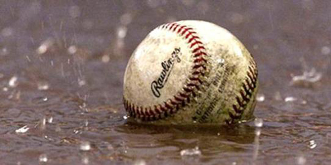 Today's baseball game has been cancelled due to inclement weather.