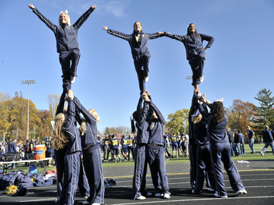 The 2012-13 cheerleading squad will be comprised of 19 student-athletes.
