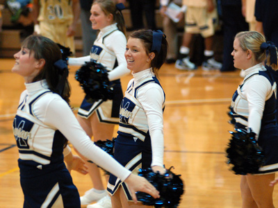 Head coach Courtney Mustin is excited about the 2010-11 cheerleading team and wants to Congratulate all of them!