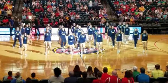 Cheer, Dance Perform at Fever Game