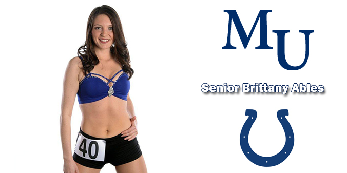 Ables a Finalist for Indianapolis Colts Cheerleader