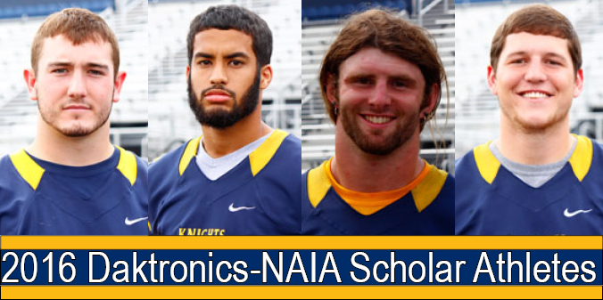 Four Knights Selected as NAIA-Daktronics Scholar-Athletes