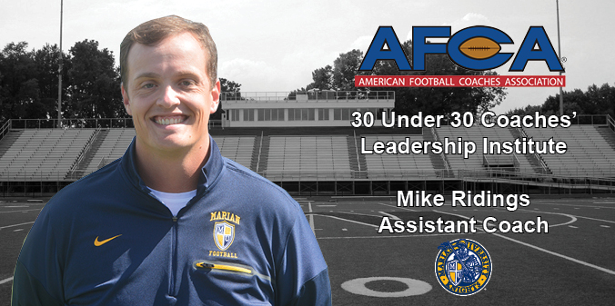 Ridings Selected for AFCA 30 Under 30 Coaches' Leadership Institute
