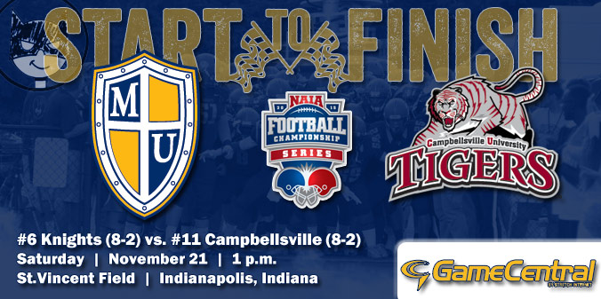 GAME PREVIEW: #6 Knights vs #11 Tigers - NAIA FCS Round 1