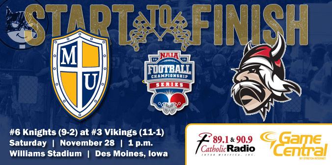 GAME PREVIEW: #6 Knights at #3 Vikings - NAIA FCS Quarterfinals