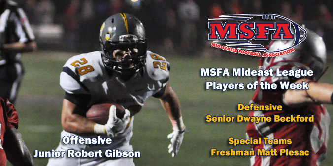 Knights Sweep Weekly MSFA Awards