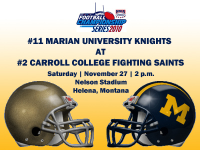 The No. 11 Knights will head to No. 2-ranked Carroll College on Saturday afternoon.