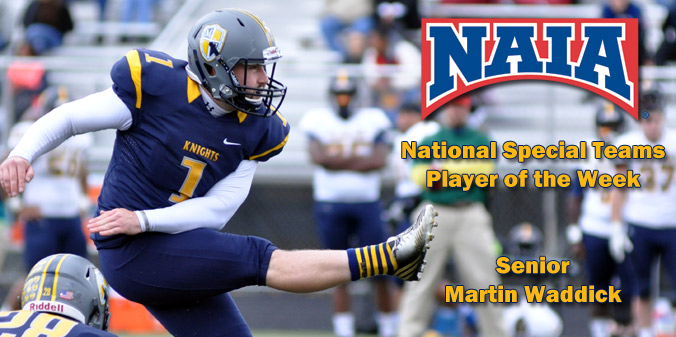 Waddick Named National Special Teams Player of the Week