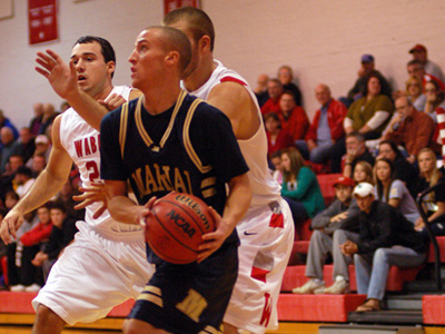 Junior Aaron Evans scored 13 points in MU's 70-50 defeat to Wittenberg University on Friday night.