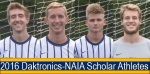 Men's Soccer Earns Four Daktronics-NAIA Scholar-Athlete Honors