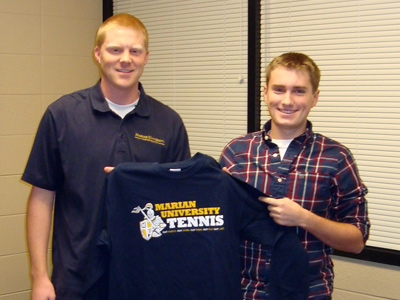 Indian Creek High School's Taylor Kinney is the first to sign with MU men's tennis for 2012-13.