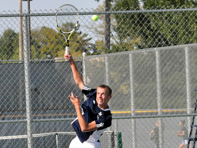 Freshman Jason Denton performed well in his first trip to the ITA Midwest Regional Championships