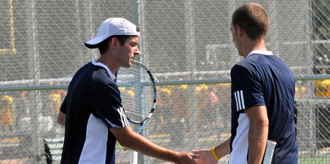 Seniors Will Dixon and Andrew Voss clinched the 5-3 win on Tuesday with a win at No. 1-doubles.
