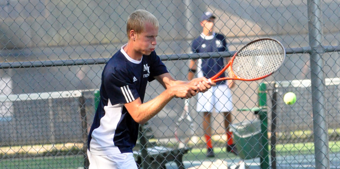 The Knights defeated Bethel College by an 8-1 score on Tuesday afternoon.