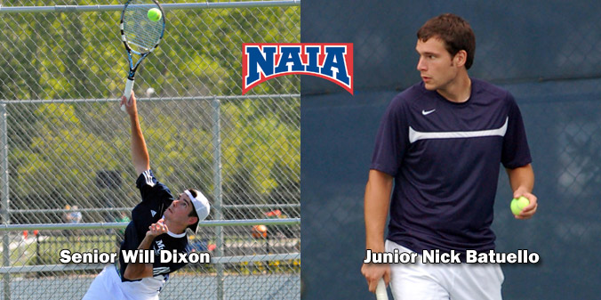 Senior Will Dixon and junior Nick Batuello were named Daktronics-NAIA Scholar Athletes for 2012-13.
