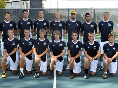 The men's tennis match scheduled for 4 p.m. today has been postponed due to inclement weather.