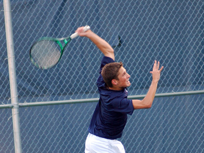 Sophomore Mitchell Trammel was the match-clinching point in MU's 5-4 win over Huntington on Friday.