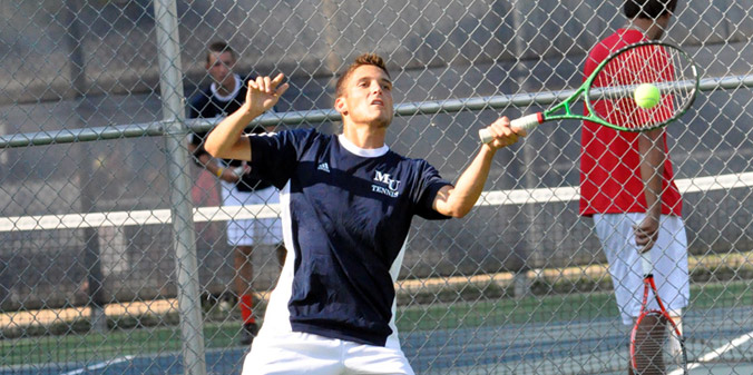Sophomore Mitchell Trammel earned a three-set win in MU's 6-3 win on Friday evening.