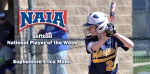 Miller Named NAIA National Player of the Week