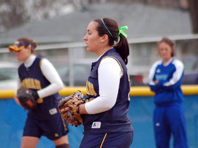 Senior Sandy Corum recorded her second win of the season in an 11-1 win on Wednesday.
