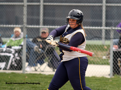 Sophomore Michelle Marcum drove in a pair in MU's 5-2 defeat at Huntington on Tuesday afternoon.