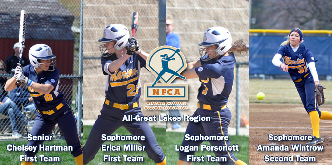 Four Knights Named NFCA NAIA All-Great Lakes Region