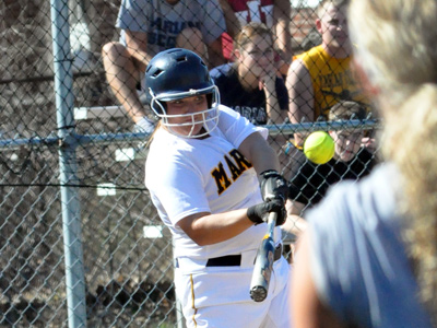 Junior Helen Rogers went 6-for-9 with three RBIs, a double and three runs scored in MU's doubleheader split on Thursday.