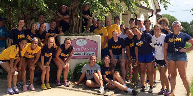 MU Tennis Takes Time to Serve Community