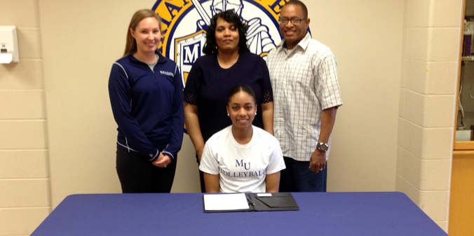 Pike's Crystal Williams is the sixth to join the MU volleyball program for 2014.