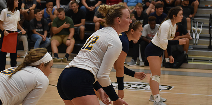 Volleyball Bounces Back; Win First 5 Set Match Of Season vs. Huntington