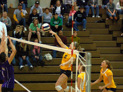 Senior Ashley Francis notched 11 kills in MU's conference season-opening victory on Wednesday.