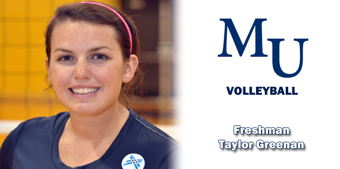 Freshman Taylor Greenan has notched double digits in digs in 12 of 13 matches and has eight with 20 or more digs in 2013.