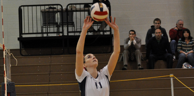 Senior Kacie Kelly had a team-high 50 assists and had 13 digs in MU's five-set defeat on Saturday.