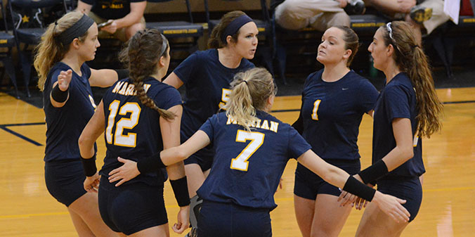 Marian Volleyball Earns AVCA Team Academic Award