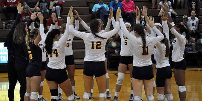 Knights Win Second Straight in Three Sets