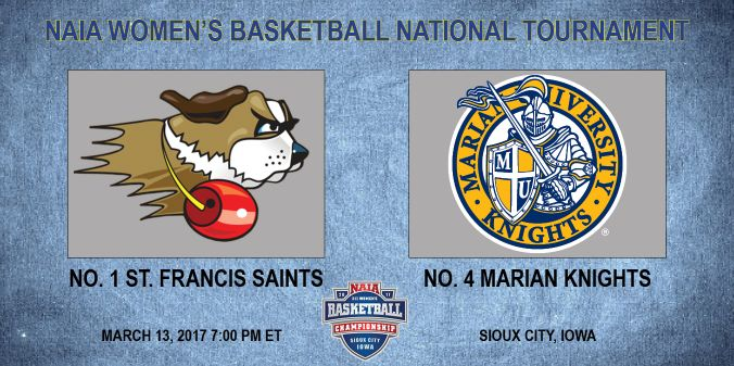 Marian To Take On St. Francis (Ill.) in Semifinals