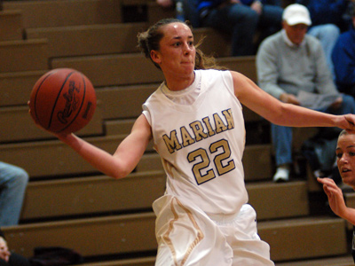 Junior Natasha Marshall tallied 11 points, including three key three-pointers, in leading MU to a 63-42 win on Saturday.