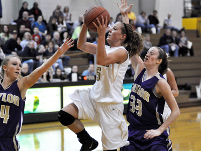 Senior Emily Smithson had a team-high 15 points in a 62-59 defeat at MVNU on Saturday afternoon.