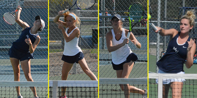Four Knights Selected to Women�s Tennis All-CL Team
